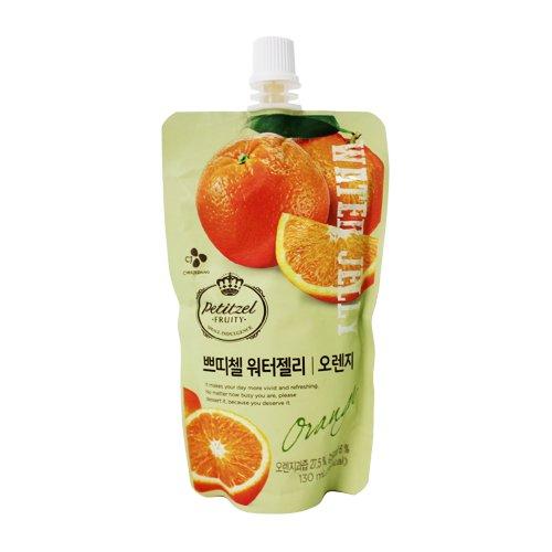 [5packs] CJ Petitzel Water Jelly (Orange) 130ml / Dessert / Fruit vegetable beverage / Korean food
