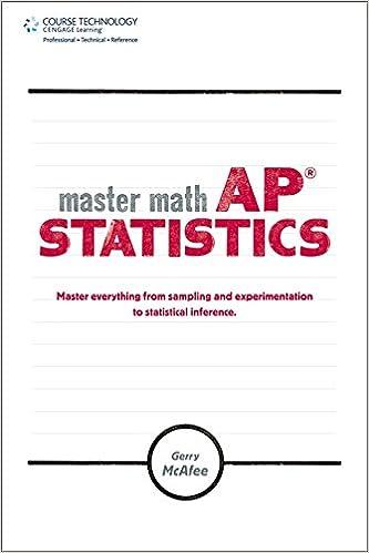 Master Math: AP Statistics: Gerry McAfee: 0884288715029