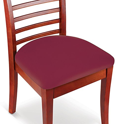 Easy Fit Seat Covers for Chairs, Bar Stools, Patio Cushions - 2 PC Set, Burgundy