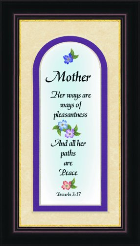 "Mom Inspirational Saying Framed 4.5"" X 8"" with Built in Easel"