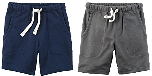 Carter's Set of 2 Boy's Cotton Pull On Shorts Toddler Little and Big Boys (5T, Dark Grey and Navy Blue) by Carter's Baby Clothing (Image #5)