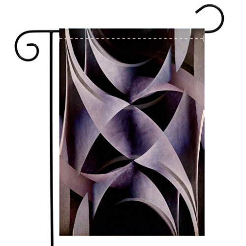 BEIVIVI Custom Double Sided Seasonal Garden Flag Abstract Background Composition with Arched Structure Architecture Motif Welcome House Flag for Patio Lawn Outdoor Home Decor ()