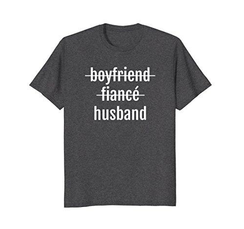 Mens Just Married Shirt Wedding Celebrate Husband Love Gift Groom 3XL Dark Heather by Wedding Gift Ideas HHWCo. (Image #2)
