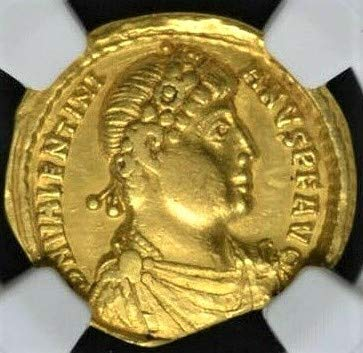 TR 364-375 AD Western Roman Empire, Byzantine Empire, Ancient Gold Coin Authenticated and Graded Solidus Very Fine NGC
