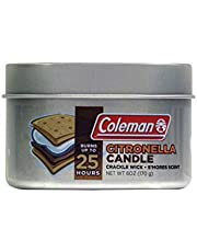 Coleman Scented Citronella Candle with Wooden Crackle Wick - 6 oz Tin