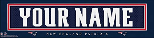 New England Patriots NFL Jersey Nameplate Wall Print, Personalized Gift, Boy's Room Decor 6x22 Unframed Poster -