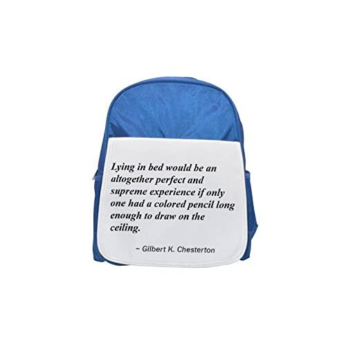 lying in bed Would Be A altogether Perfect and supreme Experience IF Only One HAD a Colored Pencil Long Enough to Draw on the ceiling. Printed Kid 's Blue Backpack, Cute de mochilas, Cute Small Backpack