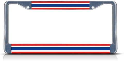 THAILAND FLAG THAI COUNTRY Metal License Plate Frame Tag Holder