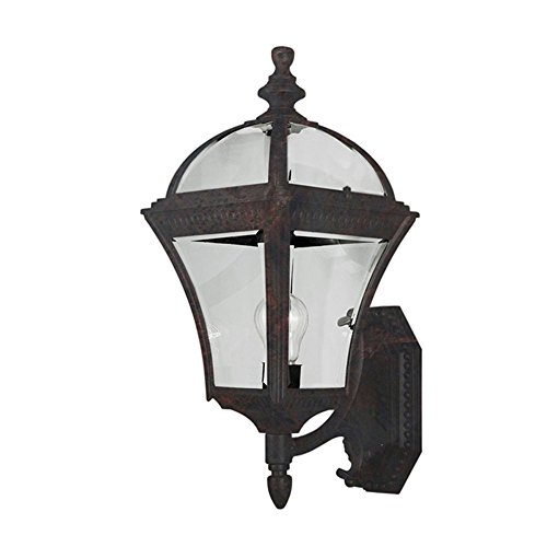 Black Copper Outdoor Wall - Transglobe Lighting 5083 BC Outdoor Wall Light with Beveled Glass Shade, Black Copper Finished