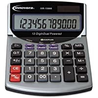 Innovera 15966 Compact Desktop Calculator, 12-Digit LCD