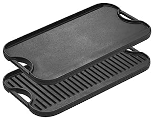 Lodge Mfg LPGI3 Logic Reversible Griddle, Seasoned Cast Iron, 20-In.
