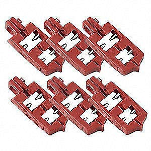 Nylon and Stainless Steel Breaker Lockout, Pk6, 65688, Red by IM VERA