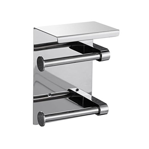 BIN Stainless Steel Mobile Phone Paper Towel Holder(Single and Double),A ()