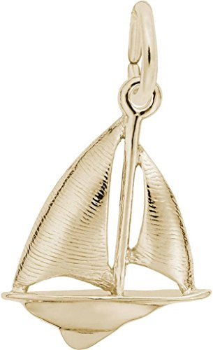 Rembrandt Sailboat Charm - Metal - 14K Yellow Gold ()