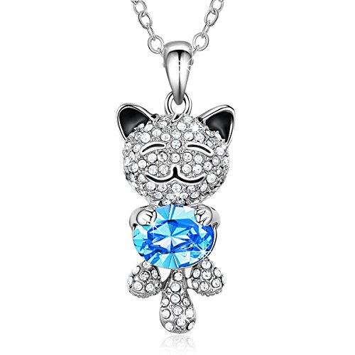 Smiling Lucky Cat Pendant Necklace product image
