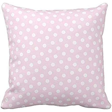 Amazon.com: Rosa y Blanco Polka Dot Pattern cojines caso ...