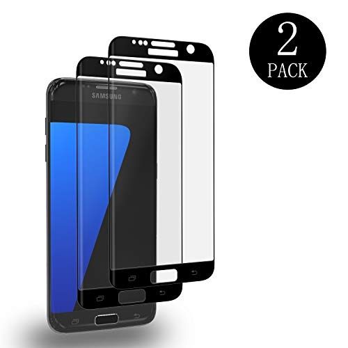 Aribest Galaxy S7 Edge Panzerglas Schutzfolie, 2 Stück Panzerglasfolie für Samsung Galaxy S7 Edge 3D Full Coverage Panzerglas Ultra-Klar Anti-Öl, Anti-Kratzen, Anti-Bläschen, 3D Touch Kompatibel