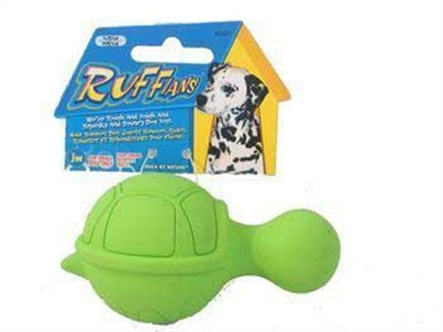 JW Pet Company Ruffians Turtle Dog Toy, Small (Colors Vary)