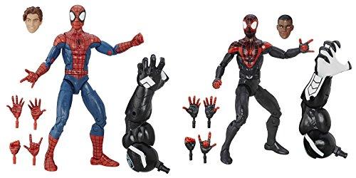 [Super Hero Spider-Man Peter Parker vs Ultimate Spider-Men: Miles Morales 6-Inch Action Figures Toys, 2] (Hulkbuster Costume For Kids)