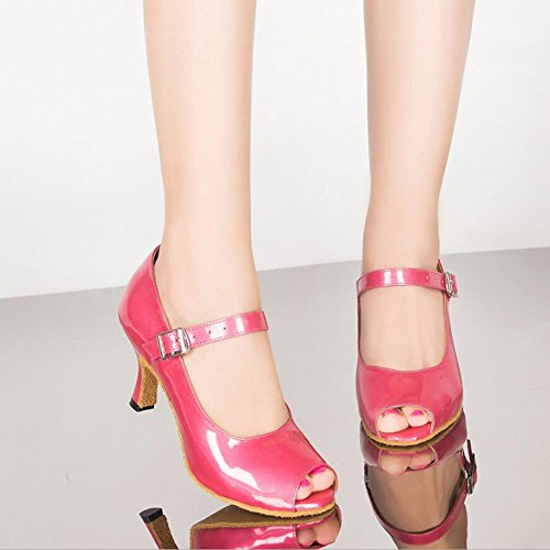 Size Sandal Square Dance Latin Shoes Ballroom XUE A Performance Heels Shoes 33 A shoes Women's Color dance Customizable PU Buckle High np4OqxYUOw