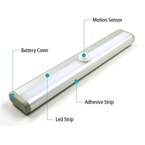 LemonBest® Barra de Luz LED Nocturna inalámbrica con sensor de movimiento Wireless para Armario de Gabinete paquete de 4 unidades: Amazon.es: Iluminación