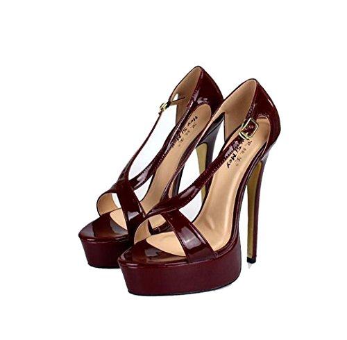 Sandalias Zapatos Punta Abierta Plataforma Mujer de Tac para rPqwSXr