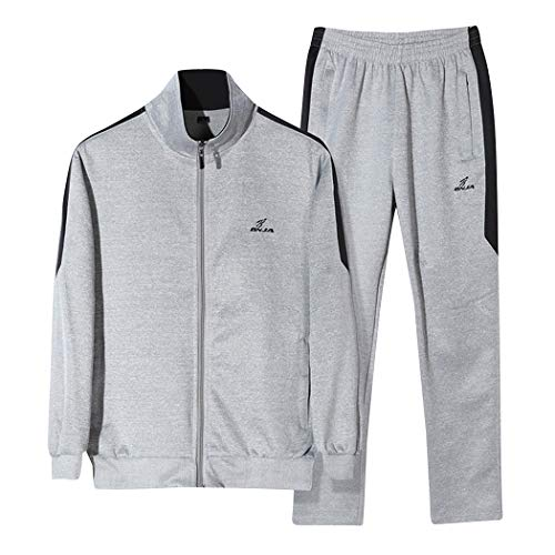 Modern Fantasy Full Zip Coloured Striped Tracksuit Jogging Sport Sweat Suits Activewear Grayblack S