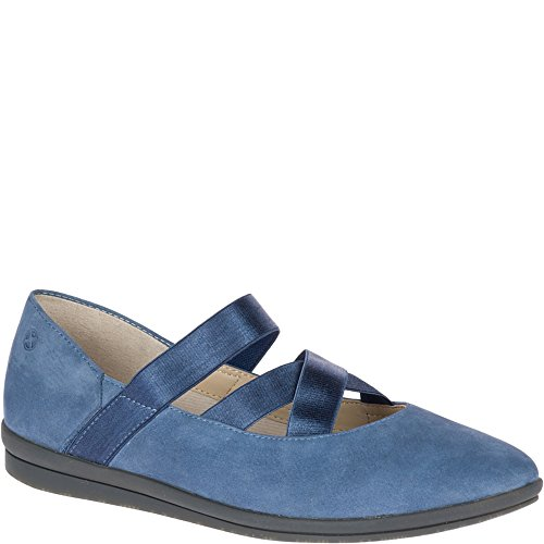 Hush Puppies Womens Meree Madrine Mary Jane Flat Vintage Indigo Nubuck