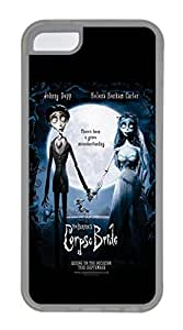 iPhone 5C Case, 5C Case - Protective Flexible Clear Rubber Case Cover for iPhone 5C Corpse Bride Ultra Thin Crystal Clear Soft Rubber Case Bumper for iPhone 5C