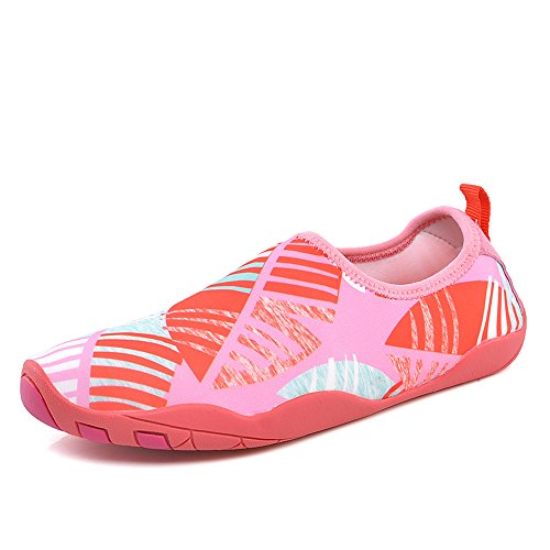 YIRUIYA Frauen Männer Quick-Dry Barfuß Wasser Schuhe Haut Aqua Socken Mit Entwässerung Löcher ¡ Pink-neu