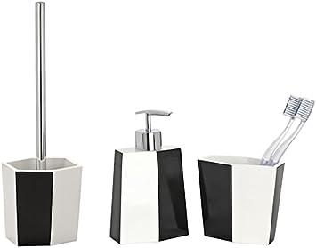 DRULINE 3er-Set Badserie WC Garnitur Zahnputzbecher Zahnb/ürstenhalter Seifenspender