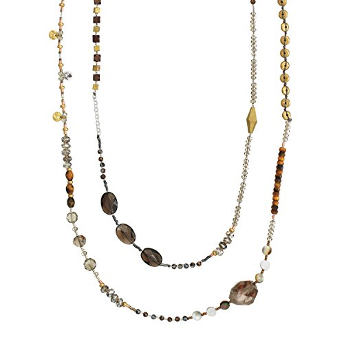 Silpada 'Harvest' Sterling Silver, Brass, Pearl, Quartz, and Tiger's Eye Necklace, 54
