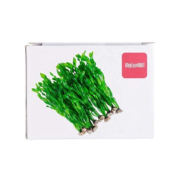 MyLifeUNIT Artificial Seaweed Water Plants for Aquarium, Plastic Fish Tank Plant Decorations 10 PCS 8