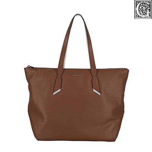 COCCINELLE IPHIGENIE DOUBLE SHOULDER BAG B15110101 659 CUIR/BLANCHE