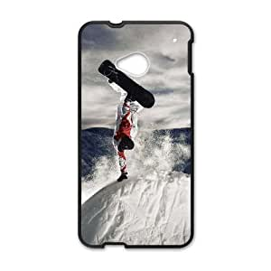 Snowboarding HTC One M7 Cell Phone Case Black xnpa