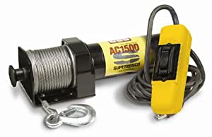 Superwinch 1715000 AC 1500 120V AC Winch, rated line pull 1,500 lb/680kg, with Free spool