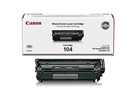 Canon 104 Original Toner Cartridge, Black, 2 Pack