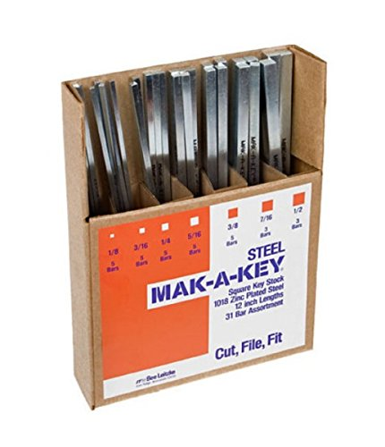MKA30 New Make-a-Key 31 Square Steel Bar Standard Assortment 12