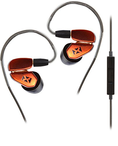 NVX In-Ear Headphones [Earbuds] with Removable Cable, In-line Microphone for iPhone and Android Phones, Sunset Orange [IE3RC] Black Friday & Cyber Monday 2015