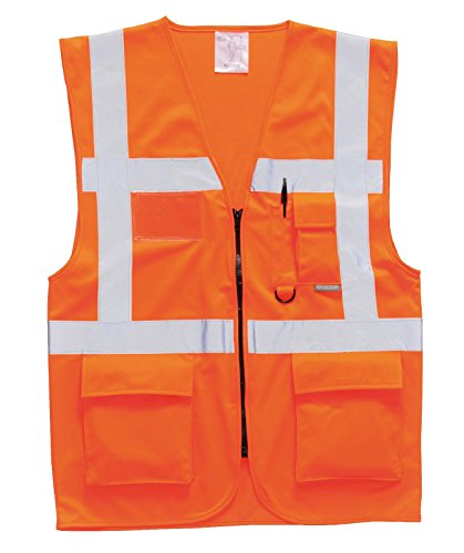 Portwest Workwear Mens Berlin Executive Vest Orange Small by Portwest (Image #1)