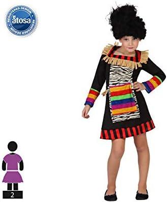 Atosa- Guerrero Disfraz Zulú, Color ((schwarz/bunt), 7 a 9 años ...