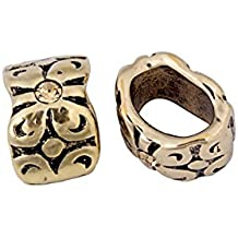 Butterfly With Crystal Body Antique Gold-Finished Leather Cord Slider Beads With Light Topaz Preciosa Czech Crystal 10.53x15.7mm pack of 8pcs