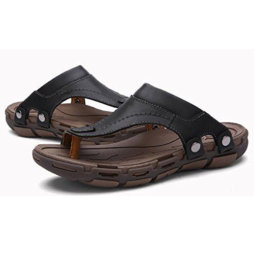 Pinuo 2016 Nye Koreanske Versjonen Av Tilfeldige Menns Sandaler Nye Pustende Utendørs Skinn Sandaler Svart
