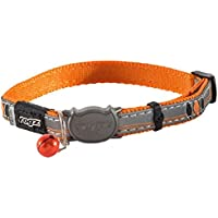 Rogz Nightcat Safeloc Cat Collar, Orange Bird, XS