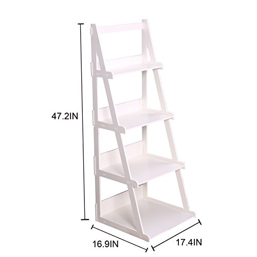 C Amp Ahome Wood Plastic 4 Tier Ladder Style Shelf A Frame