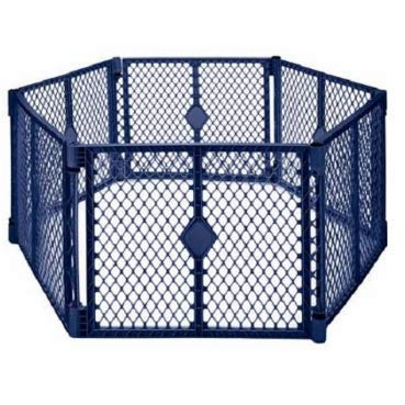 North States Superyard Colorplay 6 Panel Playard (6 Panel, Navy)