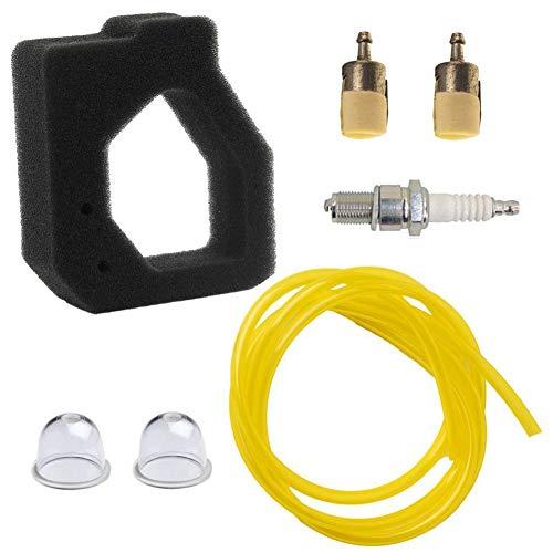 HIFROM Replace Air Filter Fuel Filter Line Primer Bulb Splar Plug for Honda GX25 GX25N GX25NT FG110 FG110K1 Engine Tiller Part 17211-Z0H-800