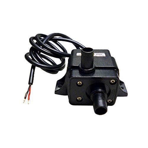 - Submersible Water Oil Pump, DC12V 240L/H Mini Aquarium Food Medical Pet Water Dispenser Cooling Cycle Silent Miniature Brushless Submersible Pump (Black)