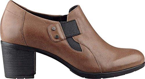Bloc Heel Spirit Natural Dark Women's Slip Pump Barral Easy Leather On qSH6IwItx