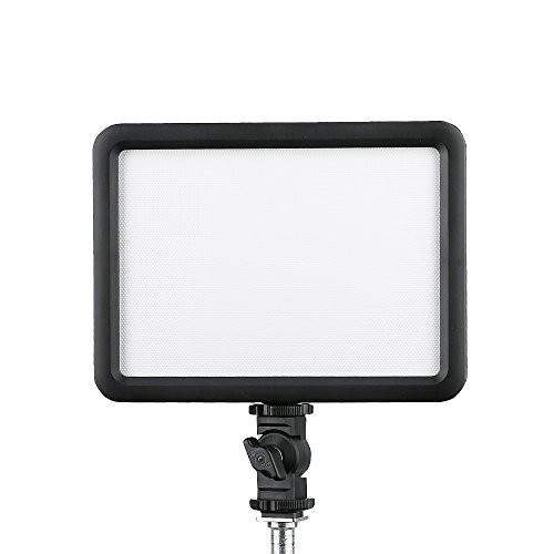 Slim Ultra Video - Godox Ultra Slim LEDP 120C LED Video Light, Dimmable Color Temperature Adjustable On Camera LED Panel Light, Continuous Portable Video Lighting with L Bracket for Camera Camcorder DSLR Camera CRI 96+